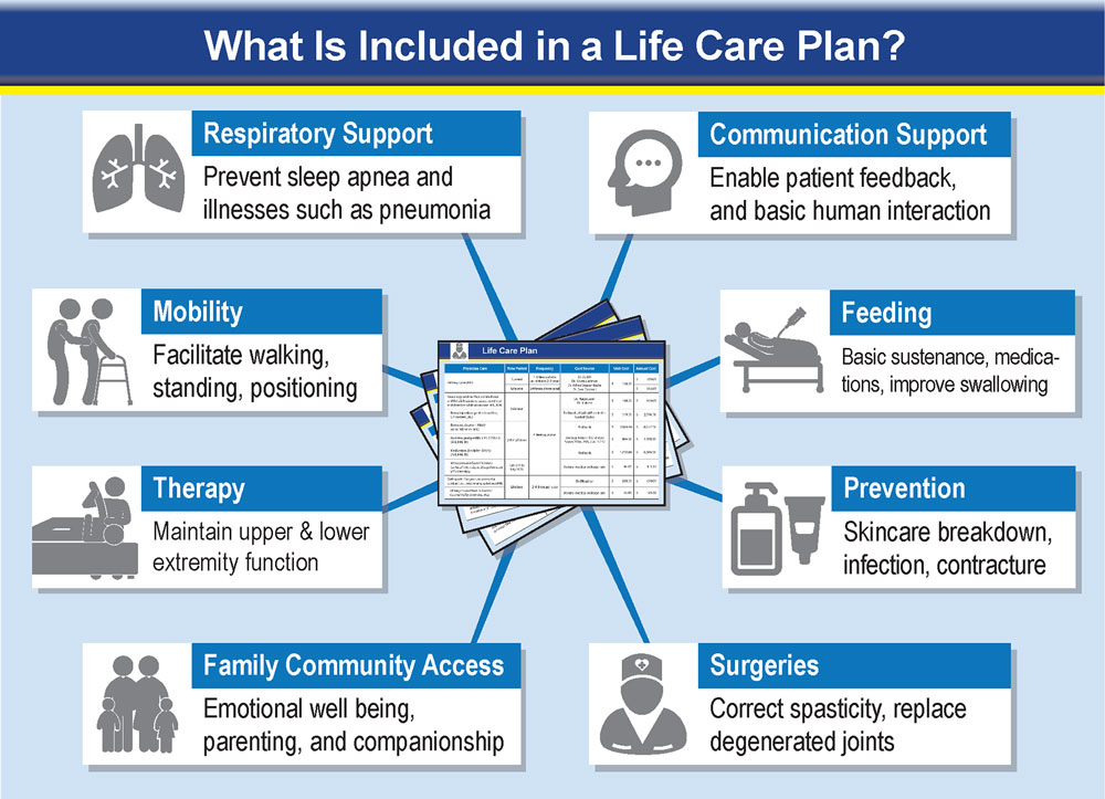 Essential components of a lifecare plan of a catastrophically injured plaintiff.